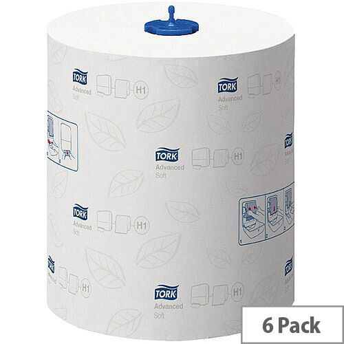 Tork Matic White Soft Paper Hand Towel Rolls 2 Ply 150m (6 Rolls) 290067