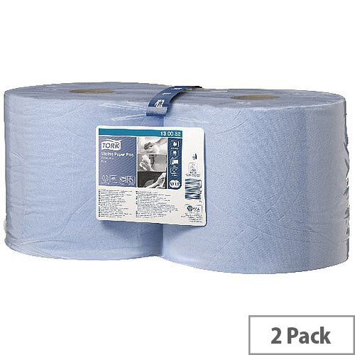 Tork Multi-Purpose Wiping Paper Blue Rolls 2-Ply 255m (2 Rolls) 130052