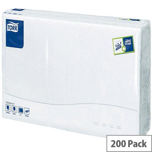 Tork Lunch Paper 2Ply Napkins Tissue 320x320mm White Pack 200 477149