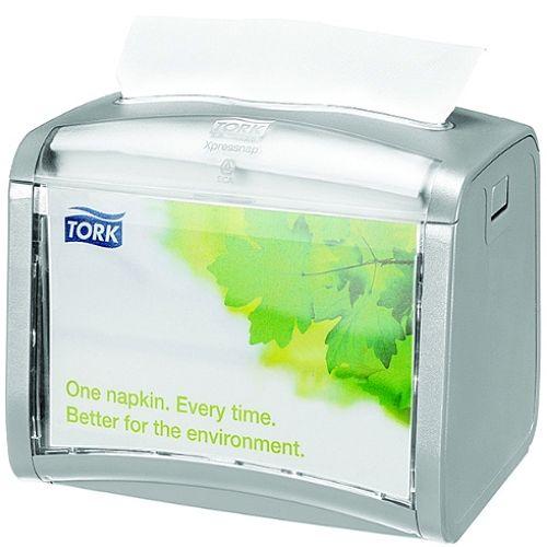 Tork Xpressnap Tabletop Napkin Dispenser Silver Napkin Holder 272613