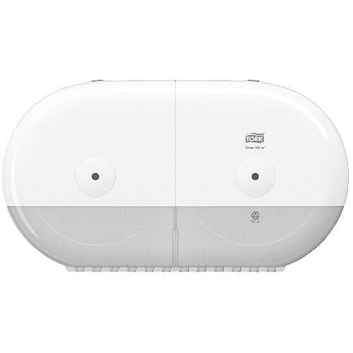 Tork SmartOne Twin Mini Toilet Paper Plastic Dispenser 682000