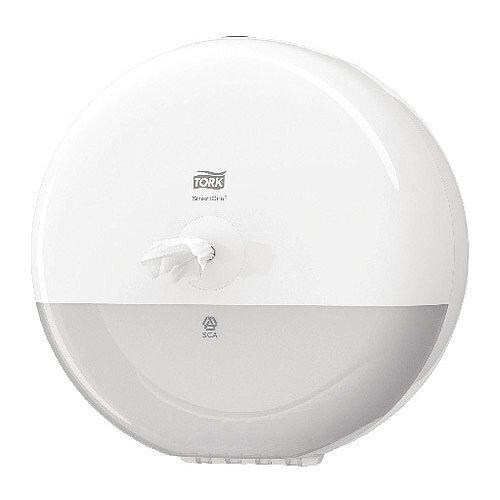 Tork SmartOne Toilet Paper Rolls Plastic Dispenser White 680000