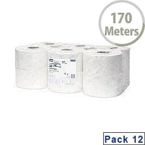 Tork Advanced Hygiene Mini Jumbo Dispenser Toilet Roll 2 Ply Pack of 12 120238