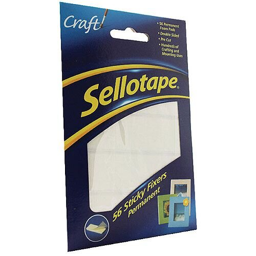 Sellotape Sticky Fixers 12x25mm Pack of 56 3798 484331