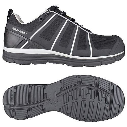 Snickers Evolution Black Work Shoes Size 43/Size 9 SG8