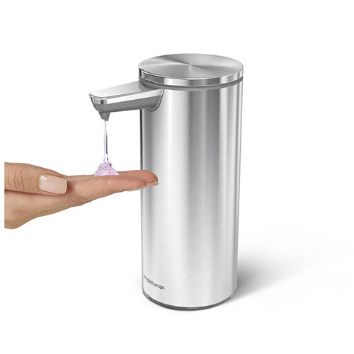 Simplehuman Liquid Sensor Soap Pump Dispenser 266ml Brushed Steel - Rechargeable ST1043