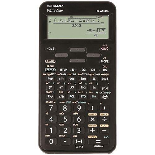 Sharp WriteView SH-ELW531TLBBK Scientific Calculator Dot Matrix Display - Battery Powered - 4-line 335 Functions 2-key - 335 Functions 80x15x161mm Blk Ref SH-ELW531TLBBK