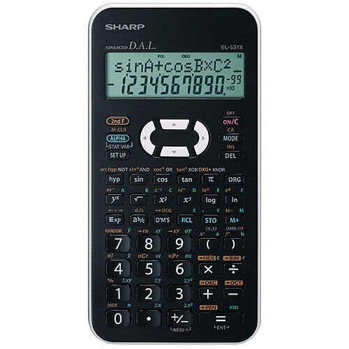 Sharp Black EL-531XH Scientific Calculator EL531XBWH