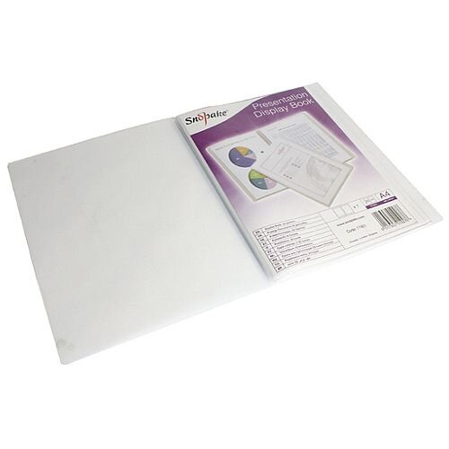 Snopake Superline Presentation Book A4 20-Pocket Polypropylene Clear 11951