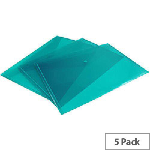Concord Stud Wallet File Vibrant Polypropylene Foolscap Green Pack of 5