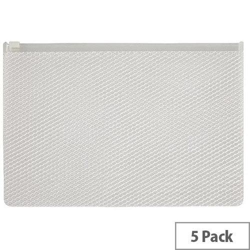 Snopake EPPE Zippa-Bag 200 x 255mm White Pack of 5 15813