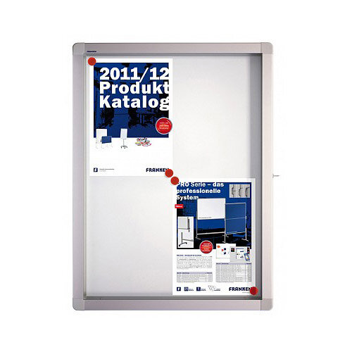 Franken Display Case ECO Outdoor Magnetic Whiteboard 4 x A4 SK4SE