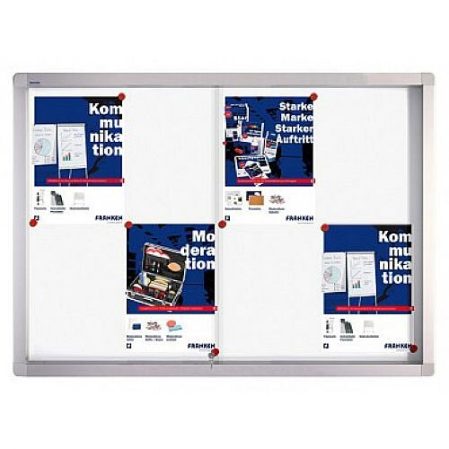 Franken Display Case PRO Magnetic Whiteboard 8 x A4 SK6108