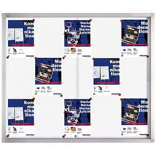 Franken Display Case PRO Magnetic Whiteboard 15 x A4 SK6115