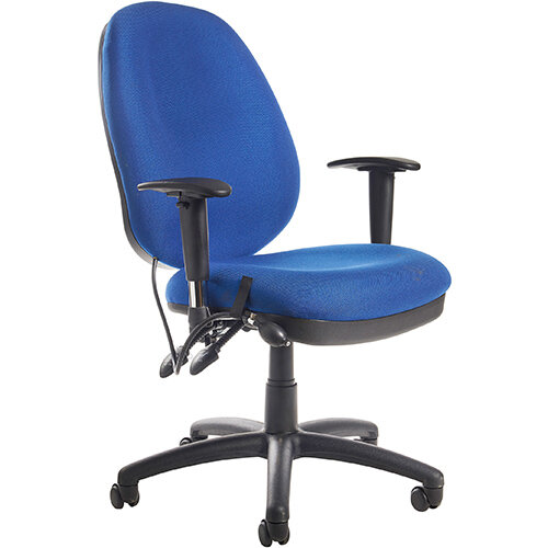 Sofia adjustable lumbar operators chair - blue