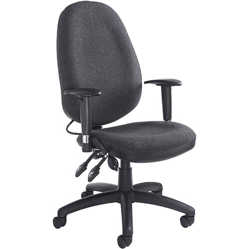 Sofia adjustable lumbar operators chair - charcoal