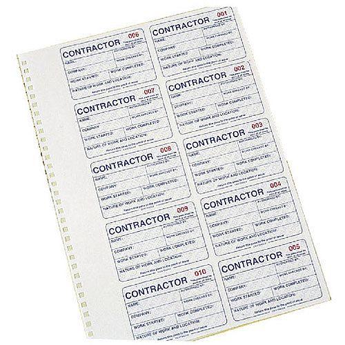 Identibadge Contractors Management System Duplicate Refill IBCONR