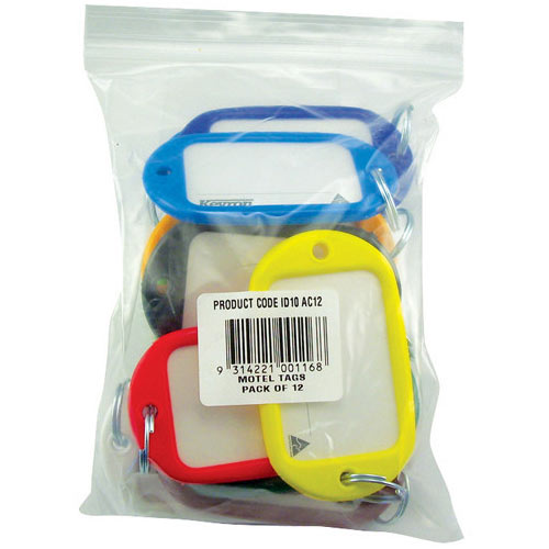 Kevron Giant Key Tags Assorted Pack of 12 ID10AC12