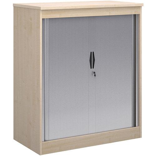 Systems horizontal tambour door cupboard 1200mm high - maple
