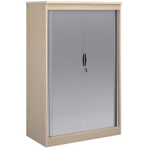 Systems horizontal tambour door cupboard 1600mm high - maple