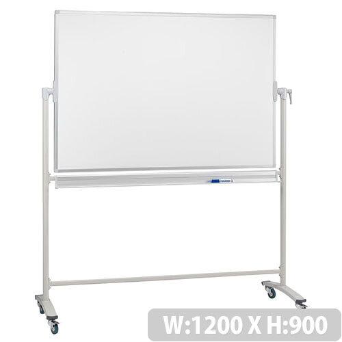 Franken Revolving Magnetic Whiteboard Enamel Surface Aluminium Frame 1200x900mm ST201
