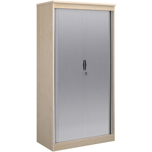 Systems horizontal tambour door cupboard 2000mm high - maple