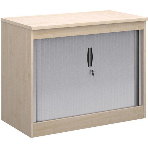 Systems horizontal tambour door cupboard 800mm high - maple