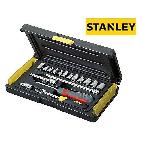Stanley 17 Piece Metric Socket Set 1/4 in Drive