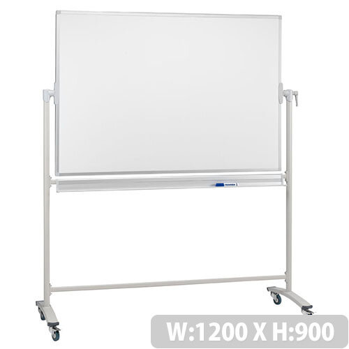 Franken Revolving Magnetic Whiteboard Light Gray – Lacquered Finish, White Surface, Aluminium Frame, 1200x900mm, 360 Degrees Rotation, Lockable, Durable, Magnetic &Integrated Pen Tray (STC201)