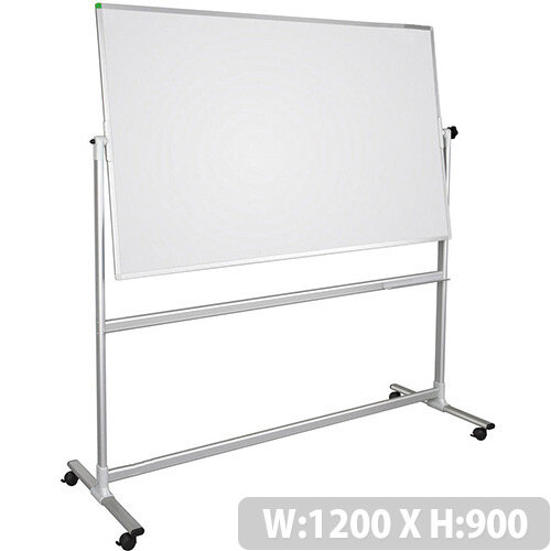 Franken U-Act!Line Revolving Whiteboard Lacquered Surface Steel Frame 1200x900mm STC901