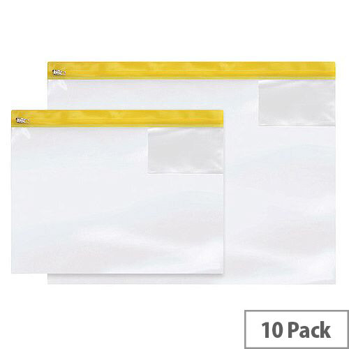 Heavy Duty Zip Bag A4 Pack of 10 4714