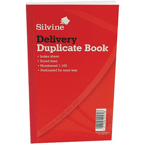 """Silvine Duplicate Delivery Book 8.25x5"""" Pack of 6"""