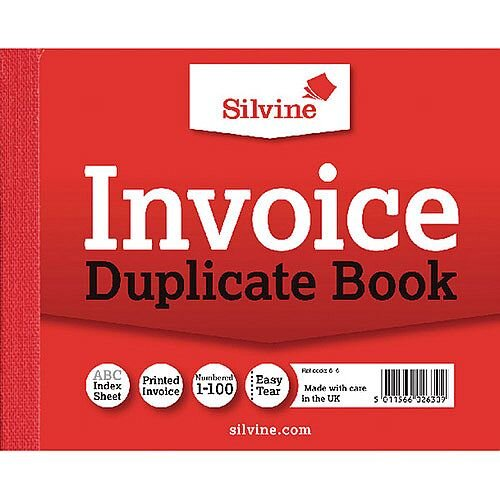 Silvine Duplicate Book 4x5 inches Invoice Book Pack of 12