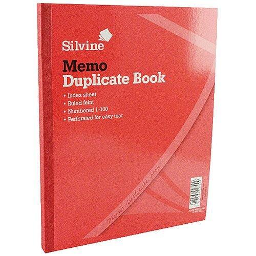 Silvine Duplicate Book 254x203mm Memo 602-T 6 Pack
