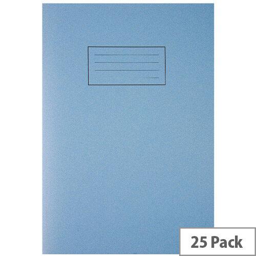 Silvine Tough Shell Exercise Book A4 Feint Ruled with Margin Blue EX144
