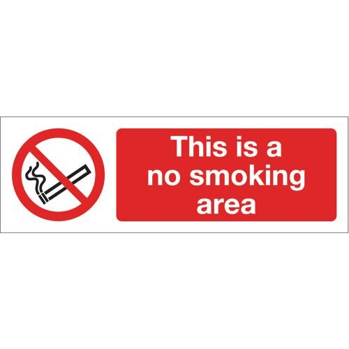 Sign This Is A No Smoking Area 400x600 Aluminium