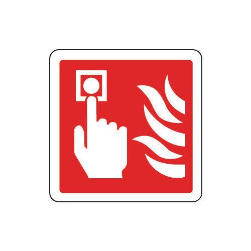 Sign Fire Alarm Pictorial 80x80 Aluminium
