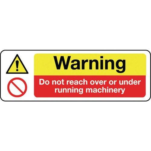 Sign Warning Do Not Reach 600x200 Aluminium