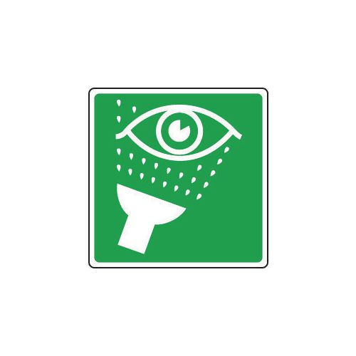 Sign Eye Wash Pictorial 200x200 Aluminium