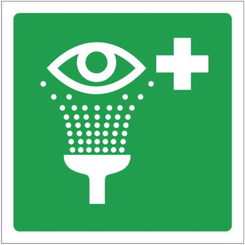 Sign Eye Wash Pictorial 100x100 Aluminium