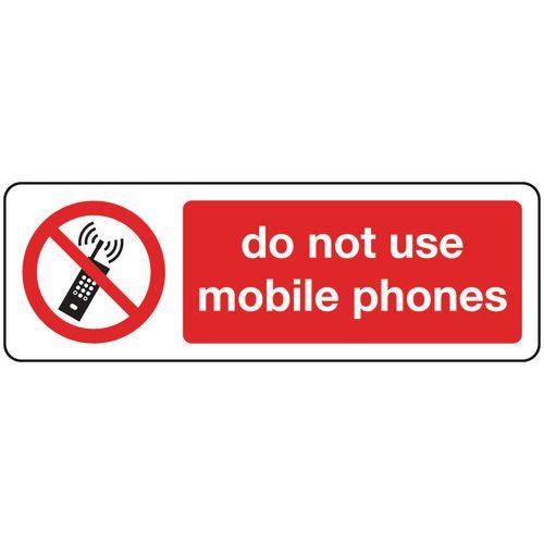Do Not Use Mobile Phones Aluminium 400x600