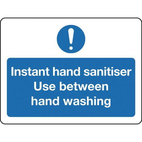 Sign Instant Hand Sanitiser Aluminium 300x100