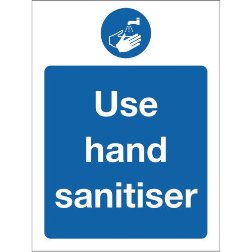 Sign Use Hand Sanitiser Aluminium 150x200