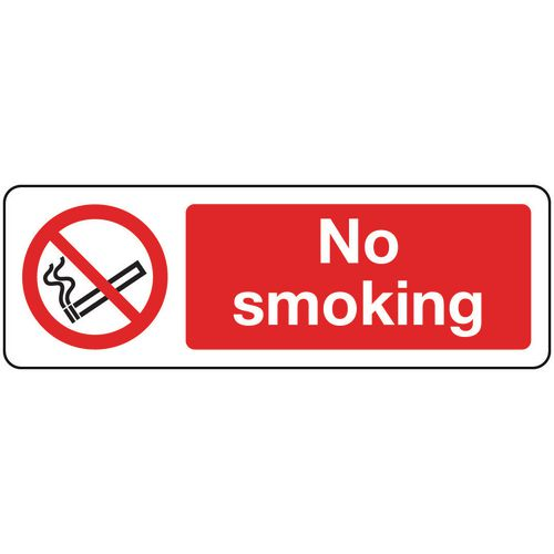Sign No Smoking 400x600 Rigid Plastic