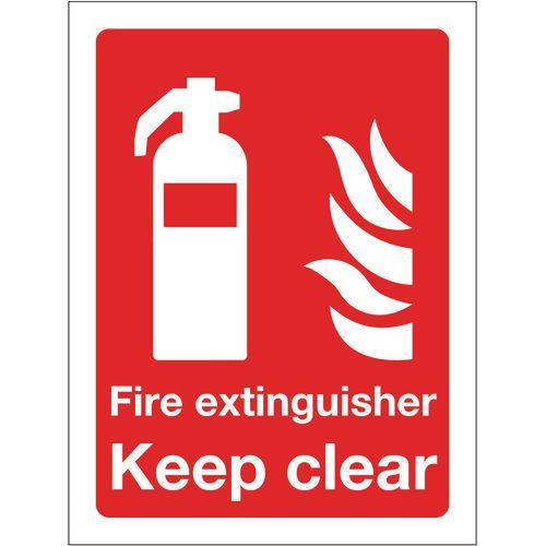 Sign Fire Extinguisher Keep Clear 300x400 Rigid Plastic