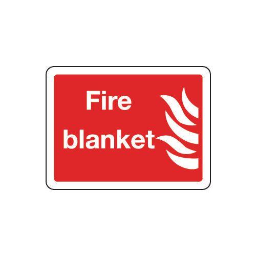 Sign Fire Blanket 300x250 Rigid Plastic