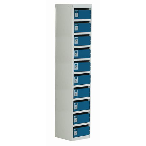 Locker Post Box Blue Doors 100 Series Floor Mount 10 Box