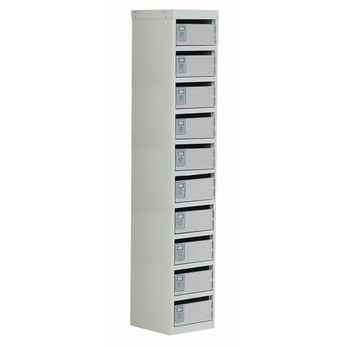 Locker Post Box Light Grey Doors 100 Series Floor Mount 10 Box