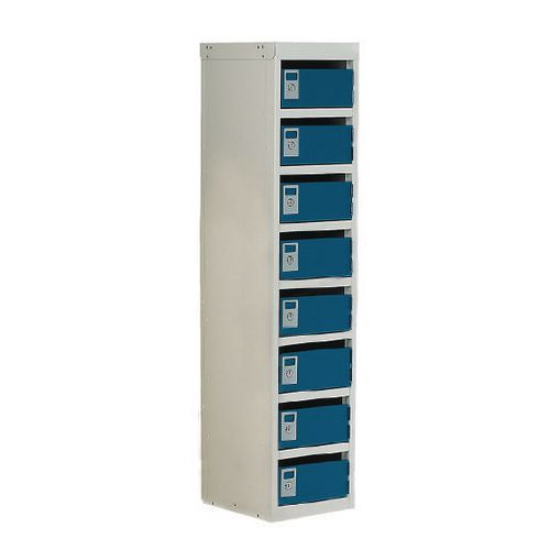 Locker Post Box Blue Doors 100 Series Table Mount 8 Box