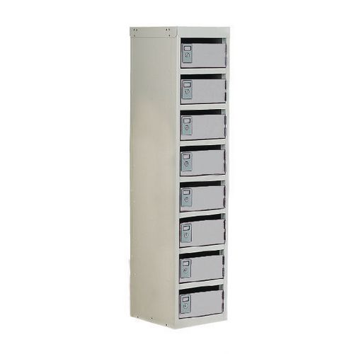Locker Post Box Light Grey Doors 100 Series Table Mount 8 Box